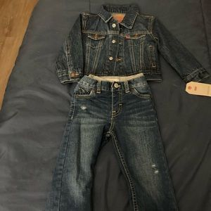 Toddler Levi Denim outfit unisex